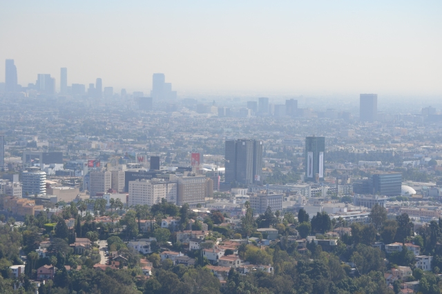 Smog covered downtown LA