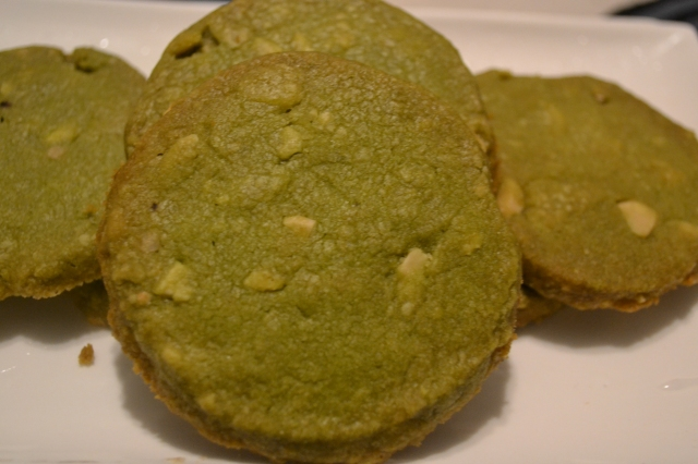 Green Tea and Almond Cookies
